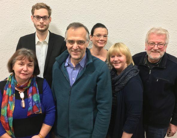 Aktuelle Fraktion mit Christiane Berlin (links)